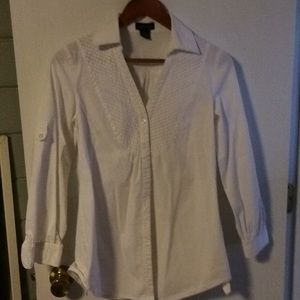 Spense button up white top in small
